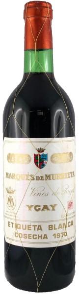 Marques de Murrieta Castillo Ygay Etiqueta Blanca Cosecha 1970