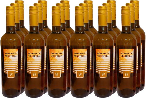 18 Flaschen Inurrieta Orchidea Sauvignon Blanc 2019 (Weißwein) (mit Schraubverschluss)