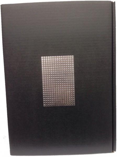 3er Präsentkarton - Seta Schwarz Chrom - strukturgeprägt