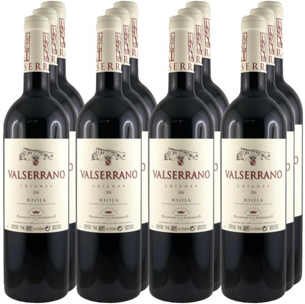 12 Flaschen Valserrano Crianza 2016 (Rotwein)