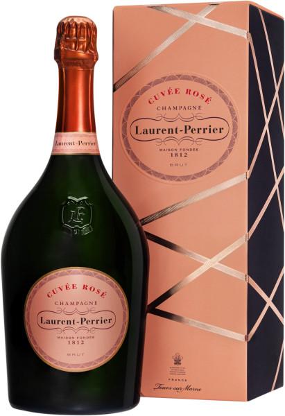 1,5l Laurent-Perrier Cuvée Rosé Champagner Magnum mit Geschenkpackung