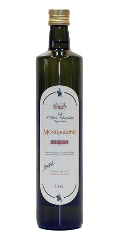 Olivenöl: Montebrione Virgin Extra, 0,75l in Glasflasche, MHD 09/2023