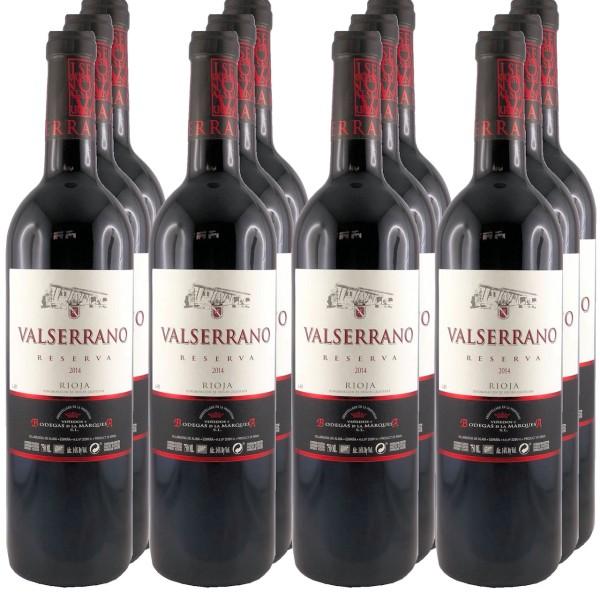 12 Flaschen Valserrano Reserva 2014 Rotwein (11+1 Angebot)