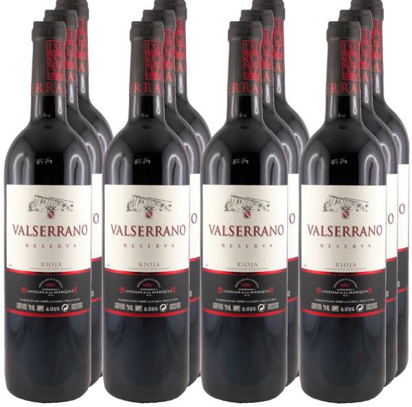 12 Flaschen Valserrano Reserva 2015 Rotwein (11+1 Angebot)