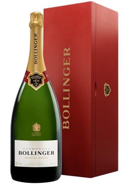 Bollinger Spécial Cuvée 3-Liter-Flasche in Holzkiste (Jeroboam)
