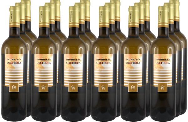 18 Flaschen Inurrieta Orchidea Sauvignon Blanc 2019 (Weißwein)