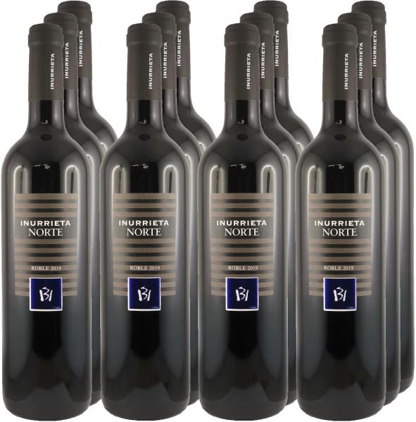 12 Flaschen Inurrieta Norte Roble 2019 Rotwein (Paketpreis)
