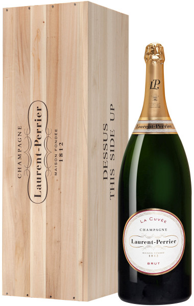 9,0l Laurent-Perrier La Cuvée Champagner Salmanazar-Flasche in Holzkiste