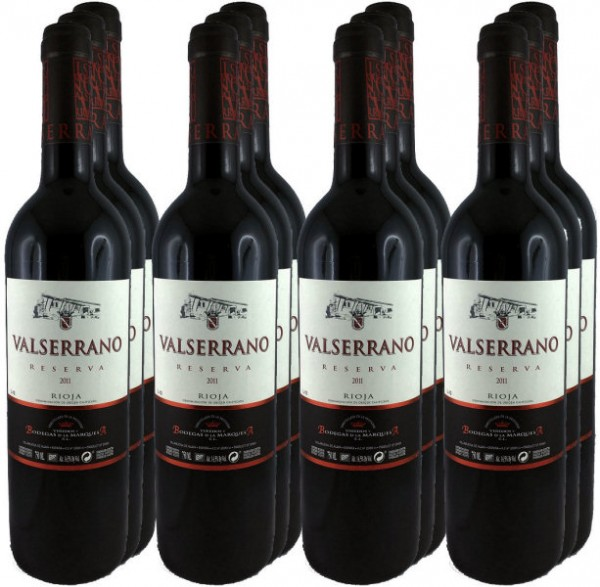 12 Flaschen Valserrano Reserva 2011 (Rotwein)