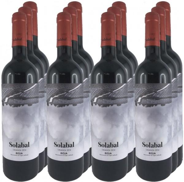 12 Flaschen Solabal Crianza 2014 (Rotwein, Rioja) (Angebot)