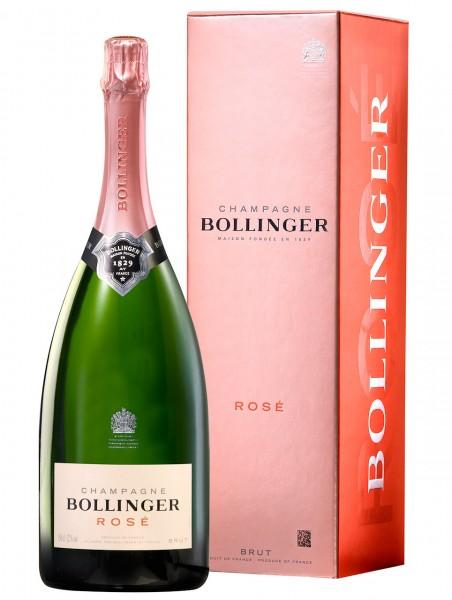 Bollinger Rose Champagner Brut MAGNUM 1,5l im Geschenkkarton
