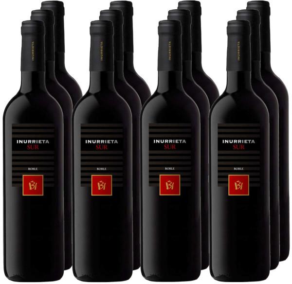 12 Flaschen Inurrieta Sur Roble 2019 Rotwein (Paketpreis)