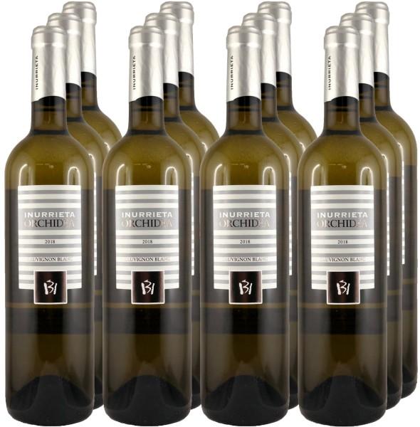 12 Flaschen Inurrieta Orchidea Sauvignon Blanc 2018 (Weißwein)