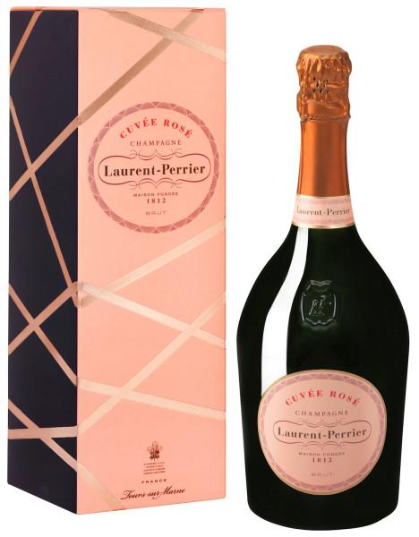 Laurent-Perrier Cuvée Rosé Champagner mit Geschenkpackung