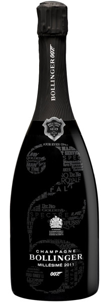BOLLINGER James Bond 007 Limited Edition MILLÉSIMÉ 2011 Magnum