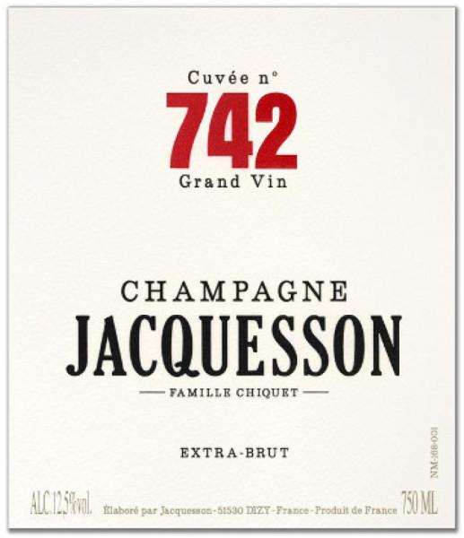 Jacquesson Extra-Brut Cuvée N°742 Jeroboam Champagner