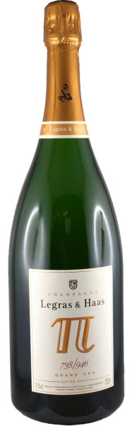 Legras & Haas Pi 2 - Blanc de Blancs Grand Cru Magnum - 1,5l Champagner