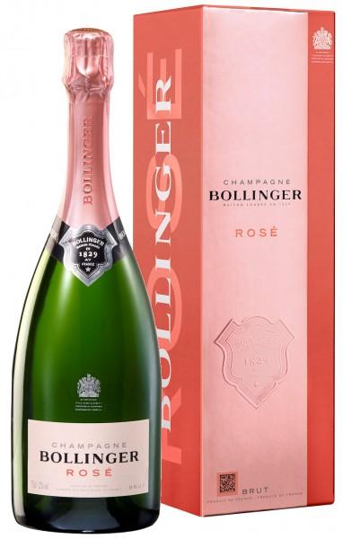 Bollinger Rose Champagner Brut im Geschenkkarton