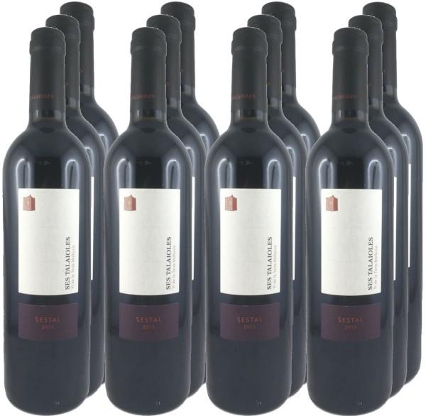 12 Flaschen Sestal 2015 (Rotwein) (11+1 Angebot)