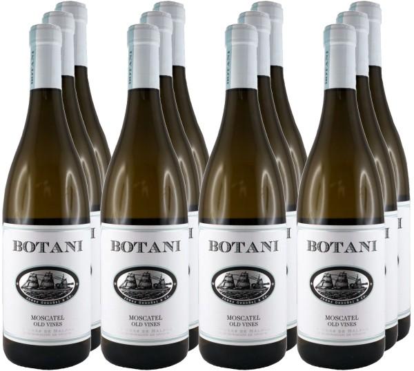 12 Flaschen Botani Moscatel Seco 2017 (Weißwein) (11+1 Angebot)