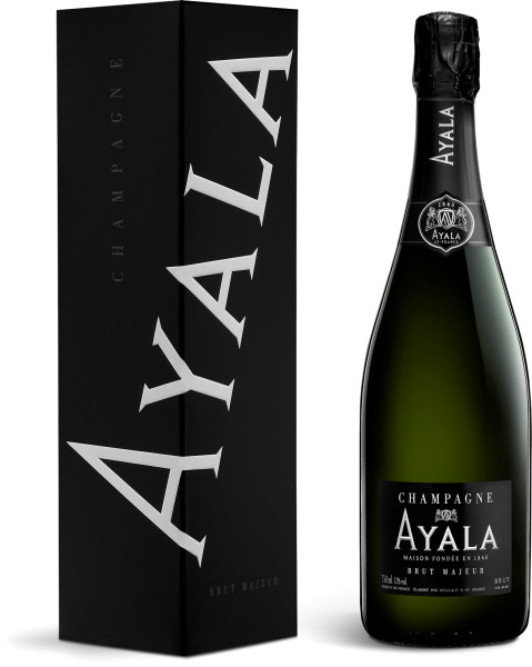 Ayala Brut Majeur Champagner in Geschenkverpackung