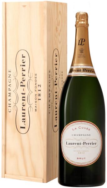 3l Laurent-Perrier La Cuvée Champagner Jeroboam in Holzkiste