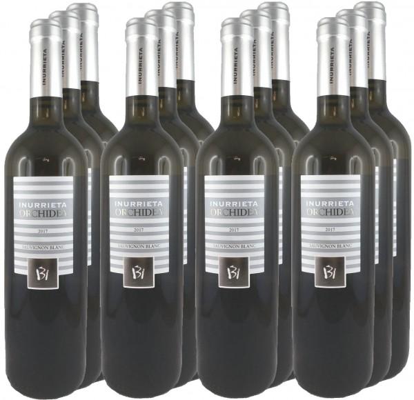 12 Flaschen Inurrieta Orchidea Sauvignon Blanc 2017 (Weißwein)
