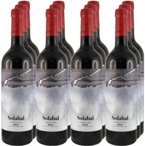 12 Flaschen Solabal Crianza 2015 (Rotwein, Rioja) (Angebot)