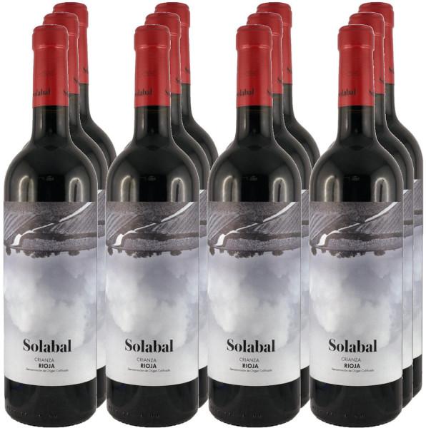 12 Flaschen Solabal Crianza 2016 (Rotwein, Rioja) (Angebot)