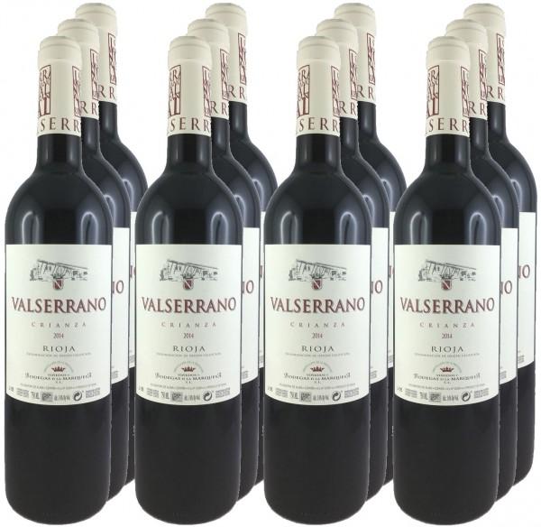 12 Flaschen Valserrano Crianza 2014 (Rotwein)