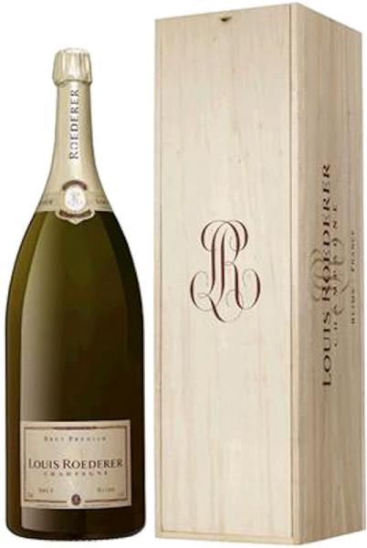 Louis Roederer Brut Premier Salmanazar Champagner in Holzkiste