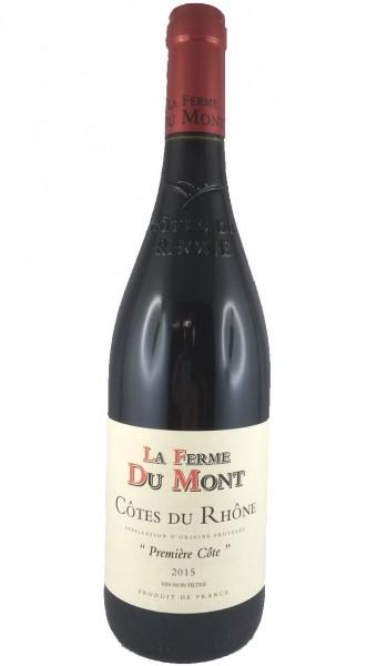 """La Ferme du Mont """"Première Côte 2015"""" Rouge - Côtes du Rhône"""