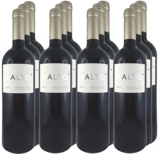 12 Flaschen Aalto 2015 Rotwein
