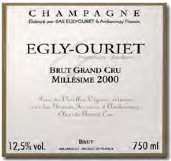 Egly-Ouriet Grand Cru Millésime 2005 Champagner