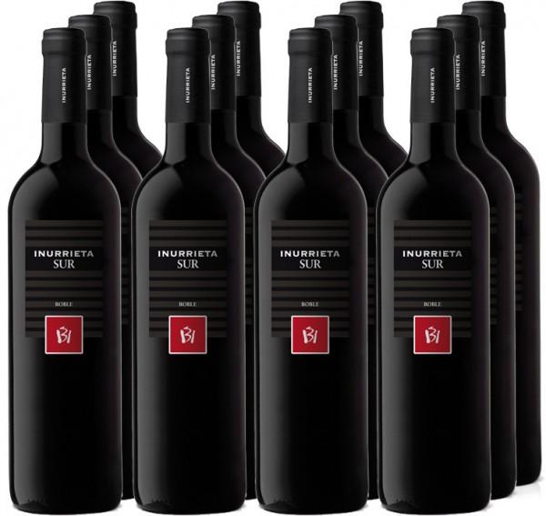 12 Flaschen Inurrieta Sur Roble 2016 Rotwein 11+1 Angebot