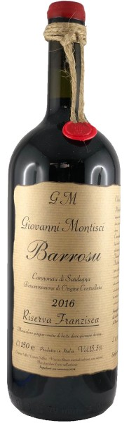 Barrosu Riserva Franzisca 2016 Magnum Cannonau, Giovanni Montisci, Italien
