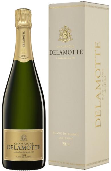 Champagne Delamotte Blanc de Blancs 2014 mit Geschenkpackung