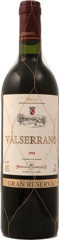 Valserrano Gran Reserva 2001 Rotwein