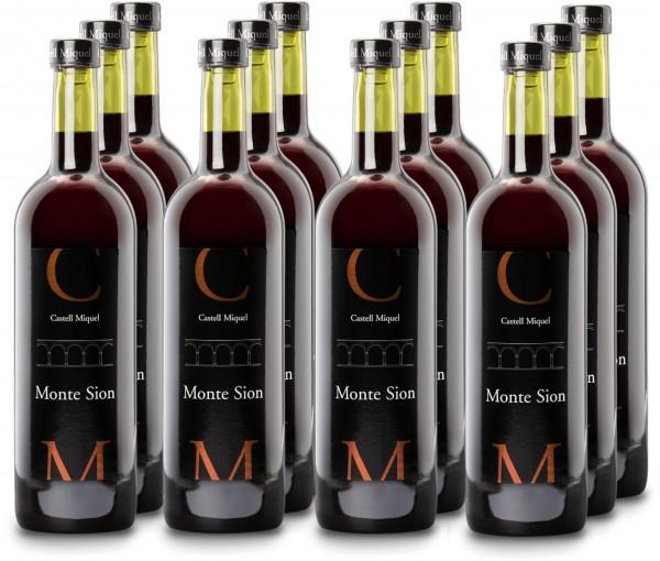 12 Fl. Castell Miquel Monte Sion Cuvée 2012 (Rotwein) (Glasverschluss) (11+1 Angebot)