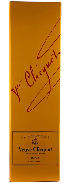 Veuve Clicquot Brut Champagner 0,75l in Geschenkpackung (Yellow Box)