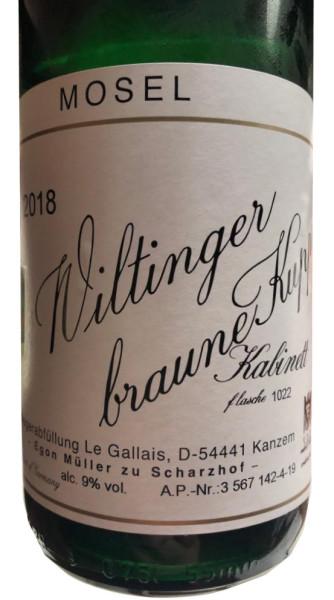 Egon Müller Riesling Wiltinger braune Kupp Kabinett 2018