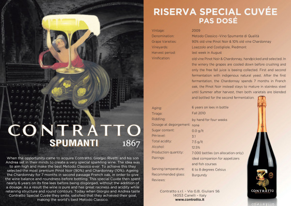 Contratto Special Cuvée 2009