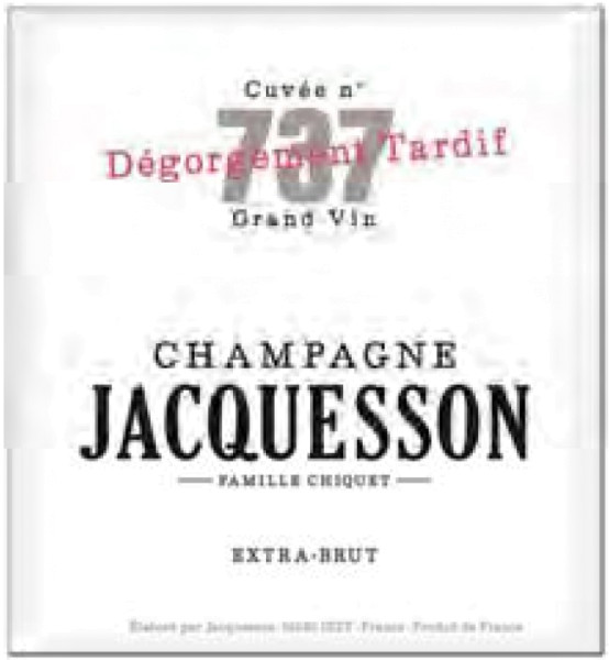 Jacquesson N°737 Dégorgement Tardif Champagner
