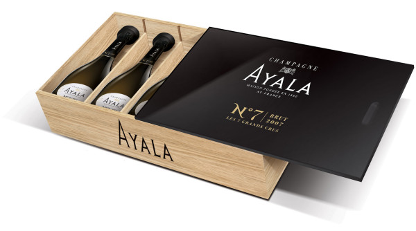 Ayala No. 7 2007 - Jahrgangs-Champagner in 6er schwarzer Holzkiste