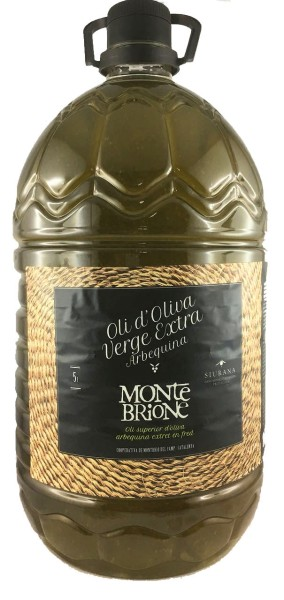 Olivenöl Montebrione Virgin Extra, Säuregehalt nur 0,12 - 0,17% , 5l in PET, MHD 10/2020