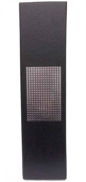 1er Präsentkarton - Seta Schwarz Chrom - strukturgeprägt