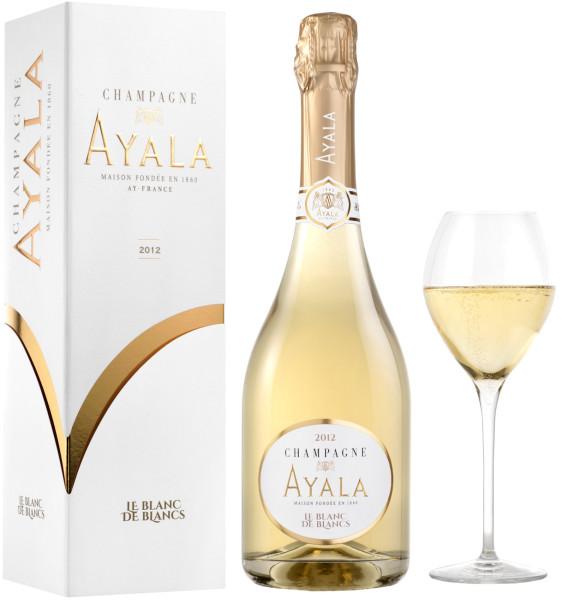 Ayala Blanc de Blancs 2012 Champagner in Geschenkverpackung