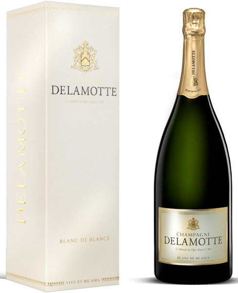 1,5l Champagne Delamotte Blanc de Blancs Magnum mit Geschenkpackung (Champagner)