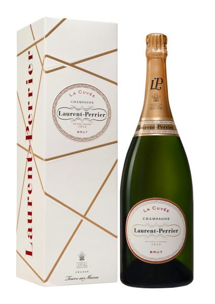 1,5l Laurent-Perrier La Cuvée Magnum Champagner mit Geschenkpackung