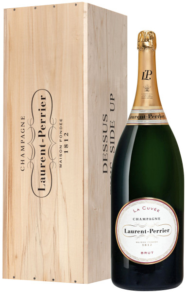 6,0l Laurent-Perrier La Cuvée Champagner Mathusalem in Holzkiste